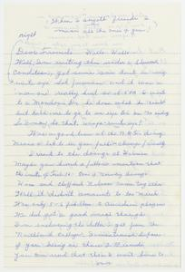 Letter to Bob Andresen, March 1985