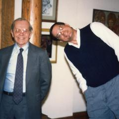 Dick Ammann and friend at gathering