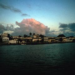 View of the Neighborhood of Funguni on Zanzibar from the Water