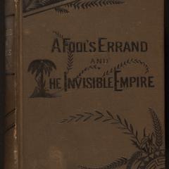 A fool's errand : by one of the fools