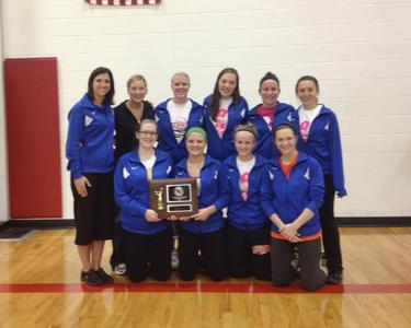 Volleyball playoff win, University of Wisconsin--Marshfield/Wood County, 2013