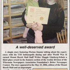 Well-deserved award