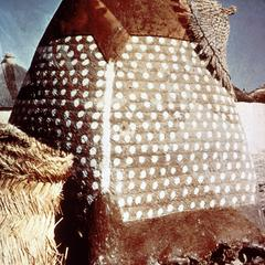 Painted Granary of Packed Earth Construction in Savannah Region of Northern Ghana