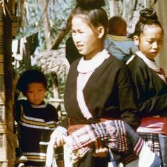 Blue Hmong (Hmong Njua) women in Houa Khong Province