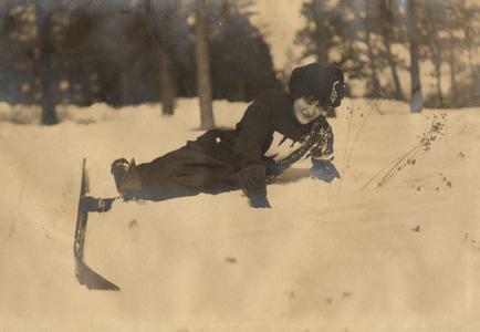 UW student skiing