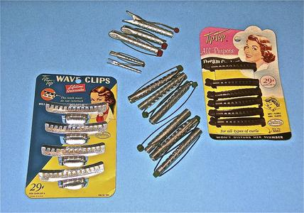 Hair clips and curlers