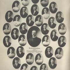1914 Swiss Reformed Church confirmation class