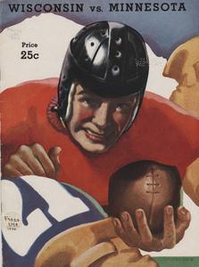 Football game program cover