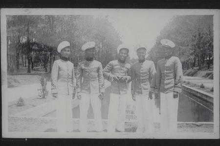 Five cadets in caps, Baguio