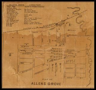 Plan of Allens Grove