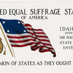 Idaho, United Equal Suffrage States postcard