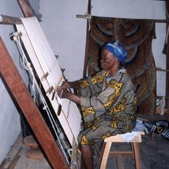 Woman at the Weaving Center