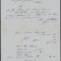 [Letter from Peter D. Müller in New York to Jacob Sternberger in Portage, April 20, 1852]