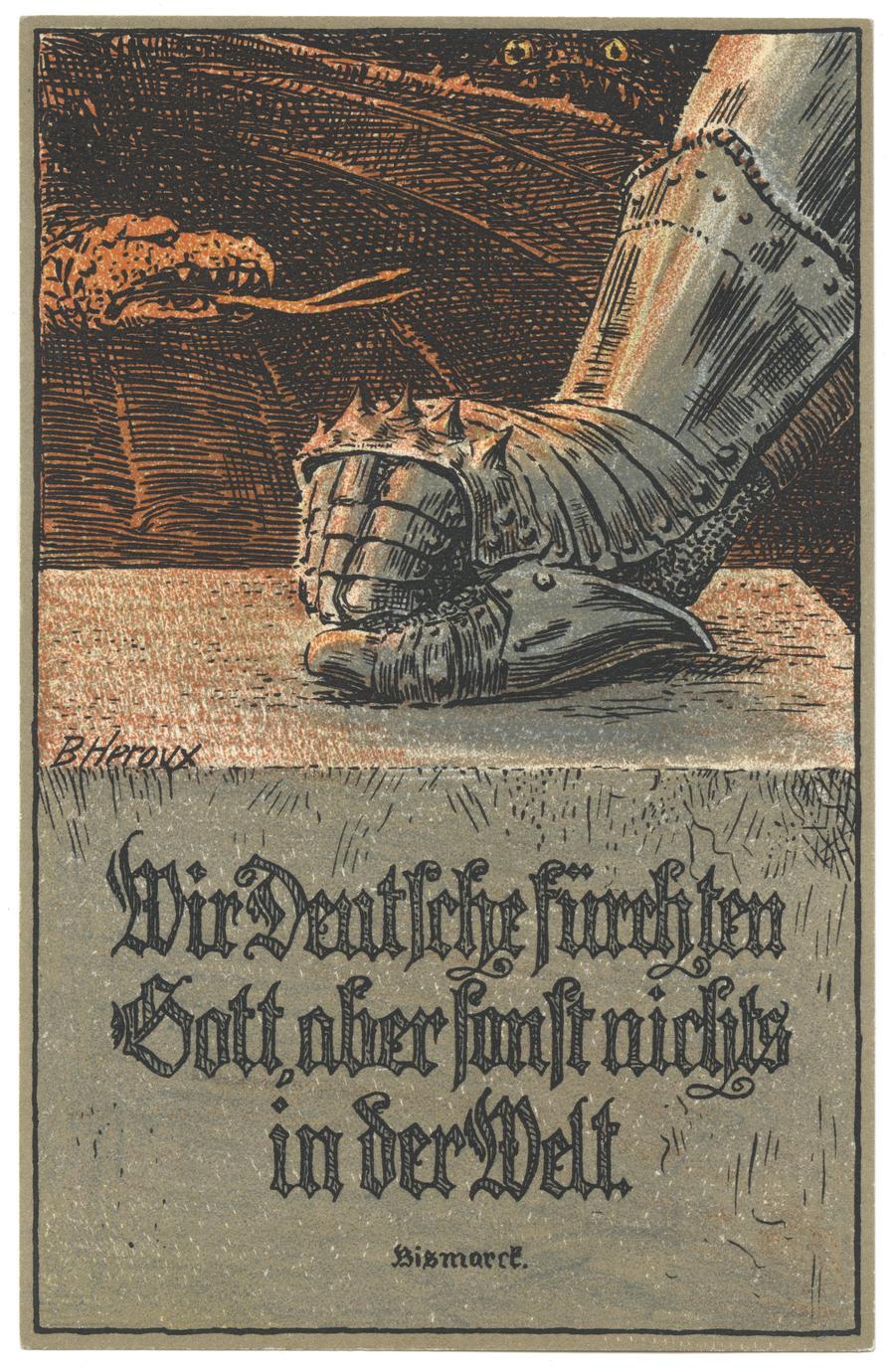 Wir Deutsche fürchten Gott, aber sonst nichts in der Welt. Bismarck