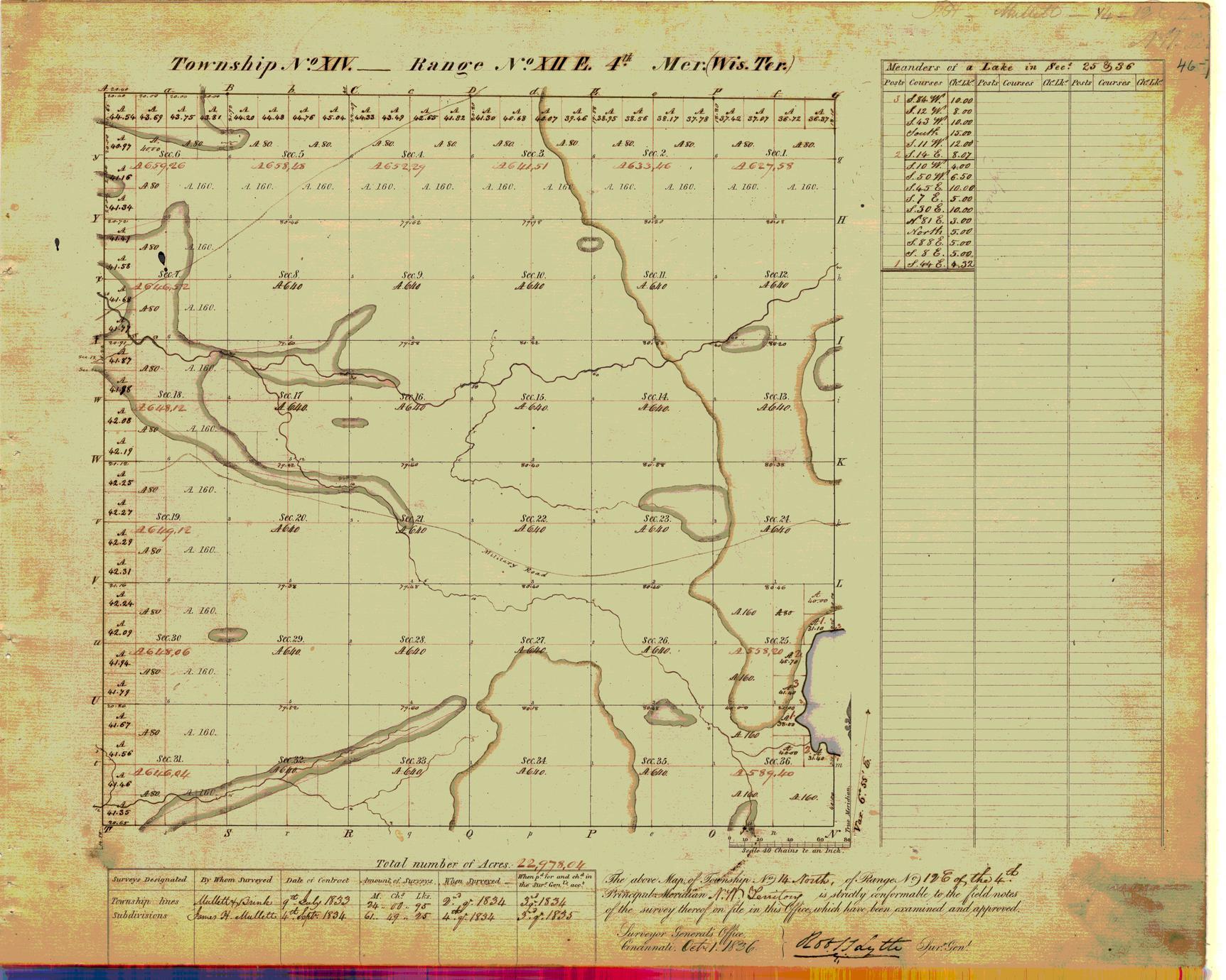 [Public Land Survey System map: Wisconsin Township 14 North, Range 12 East]