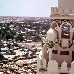 View of Side Minaret of Mosque of Touba Taken During Feast of Magal