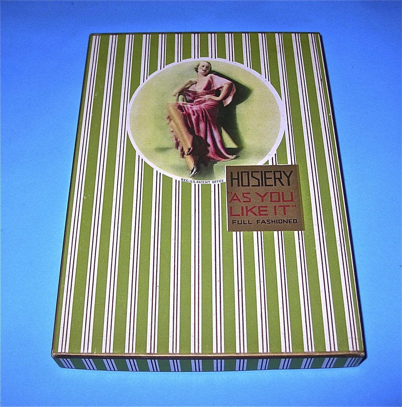 "Hosiery ""As You Like It"" box"