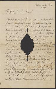 [Letter from Auhendorff to Jakob Sternberger, May 27, 1849]