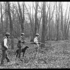 In October woods - 3 hunters