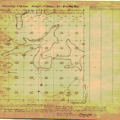 [Public Land Survey System map: Wisconsin Township 18 North, Range 22 East]