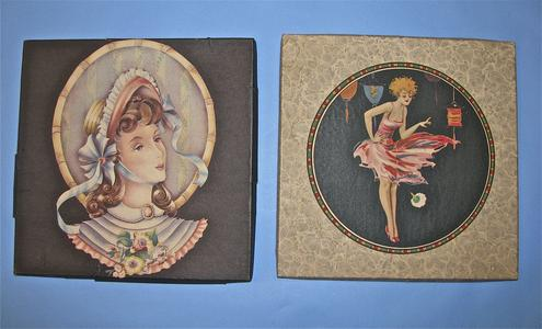 Two boxes for handkerchiefs