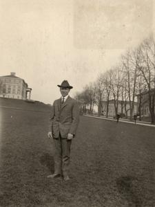 John Brann on campus