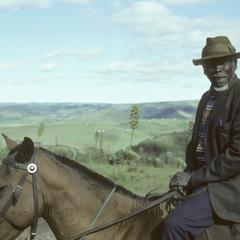 People of South Africa : Xhosa man on horse