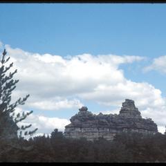 """Rock """"castle"""" near Camp Douglas"""