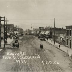 Main Street in New Richmond, looking south from bridge