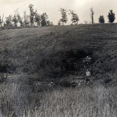Kettle in outwash plain