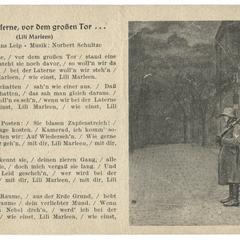 Vor der Kaserne, vor dem großen Tor... (Lili Marleen)
