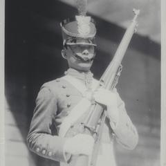 Cadet with rifle, Philippine Military Academy, Baguio