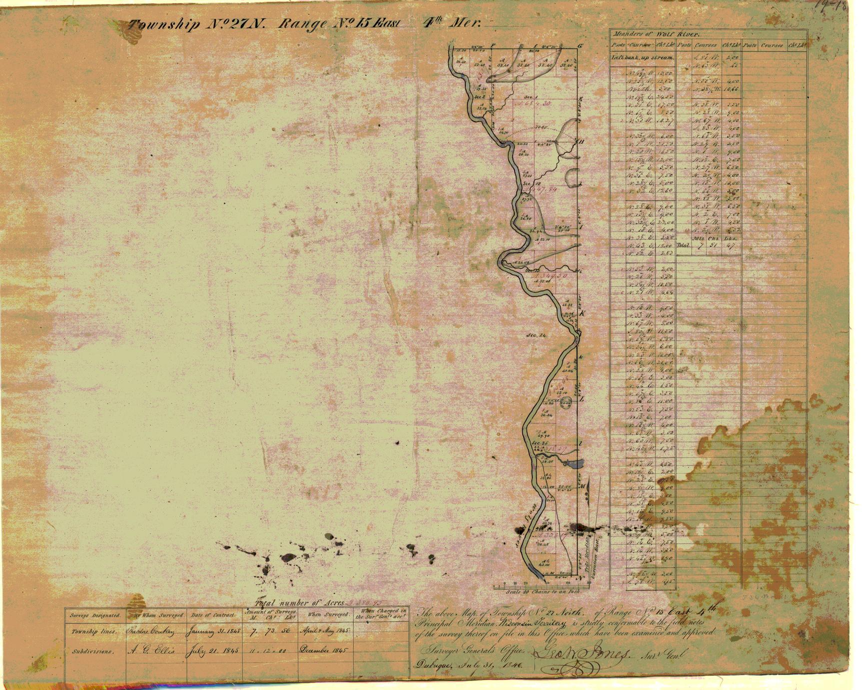 [Public Land Survey System map: Wisconsin Township 27 North, Range 15 East]