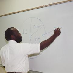 Professor George Jones teaching
