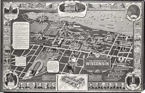 The University of Wisconsin, Historical Decorative Map