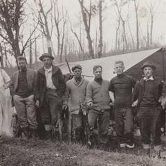 Survey team at Carrie's Creek camp
