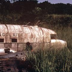Deserted Plane in Forest, a Remnant of the Civil Wars after Independence in 1960