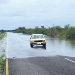 Paved Road in Rainy Season