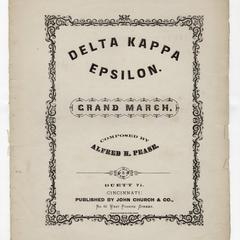Delta Kappa Epsilon march