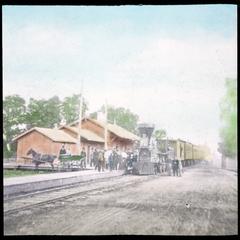 Chicago and Northwestern Railroad Depot and Kenosha Accommodation Train