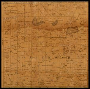 Richmond Township plat map, 1857