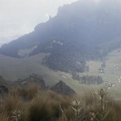 "Volcan Iztaccihuatl above ""La Joya"""