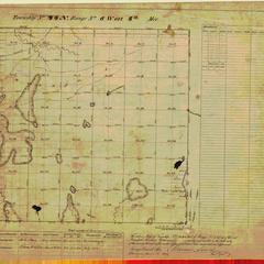 [Public Land Survey System map: Wisconsin Township 44 North, Range 08 West]