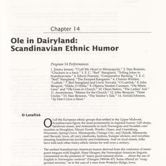 Ole in Dairyland : Scandinavian ethnic humor