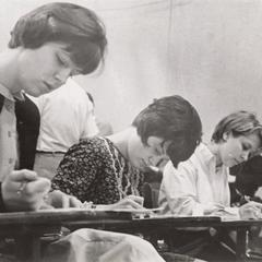 UW-Waukesha registration, Mount St. Paul College,1966
