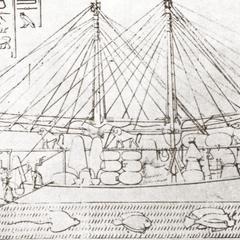 Baboons on Egyptian Boat, 1680 B. C.
