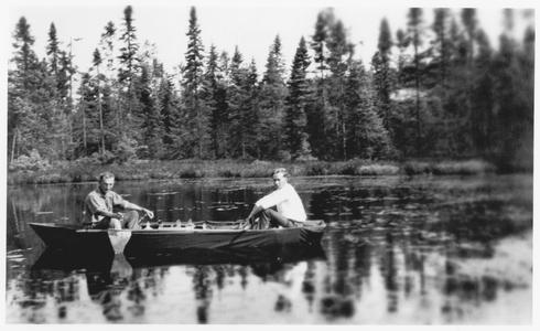 C. Juday and S. Wright on Trout Lake