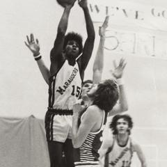 Shooting a basket, University of Wisconsin--Marshfield/Wood County