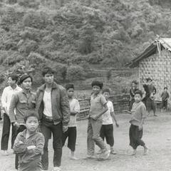 School in a Yao (Iu Mien) village in Houa Khong Province