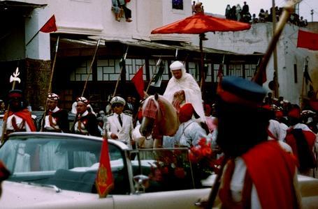 Muhammad V in Parade in Fez